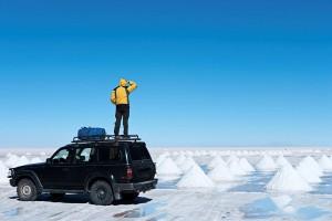 Abstecher zum Uyuni Salzsee in Bolivien - hier sind nur geführte Autotouren möglich.