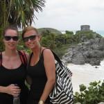 Saskja Fischer mit Kollegin Lena Filipp auf Yucatan in Mexiko.