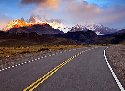 Monte Fitz Roy Sunrise near El Chalten, Argentina.