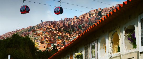 La Paz mit der Seilbahn Mi Teleférico