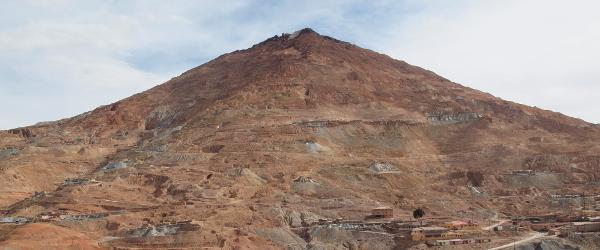 Der Cerro Rico bei Potosí