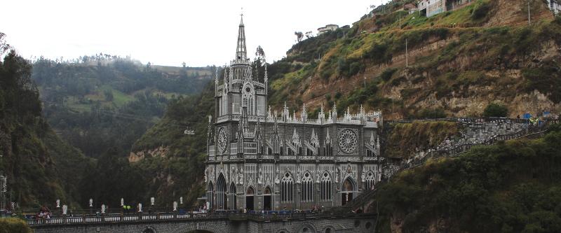 Die Basilica Las Lajas in Kolumbien