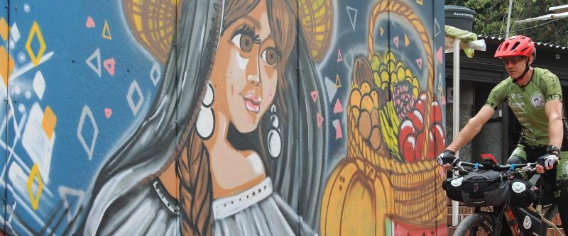 """Graffitis in der """"Candelaria"""", dem Altstadtviertel"""