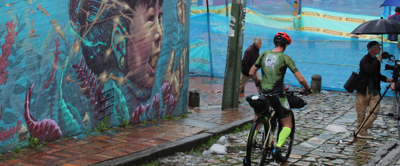 Guido unterwegs in den Straßen der Hauptstadt Kolumbiens