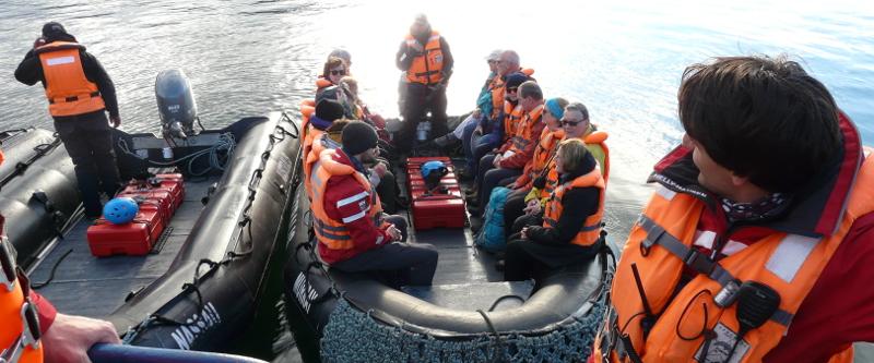 In den Ausflugs-Booten am Kap Hoorn