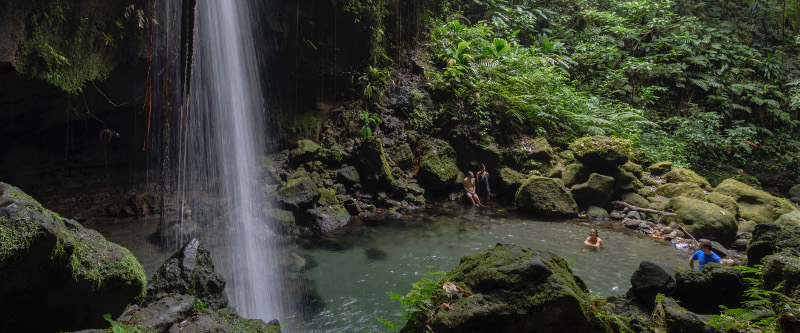 Wasserfall & Naturspa auf Dominica