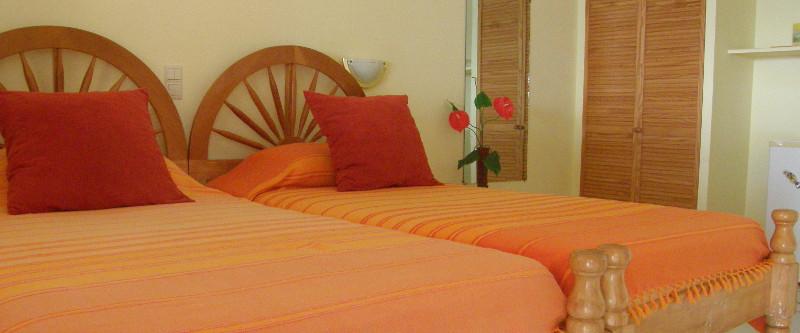 Blick in ein Zimmer des Tamarind Tree-Hotels
