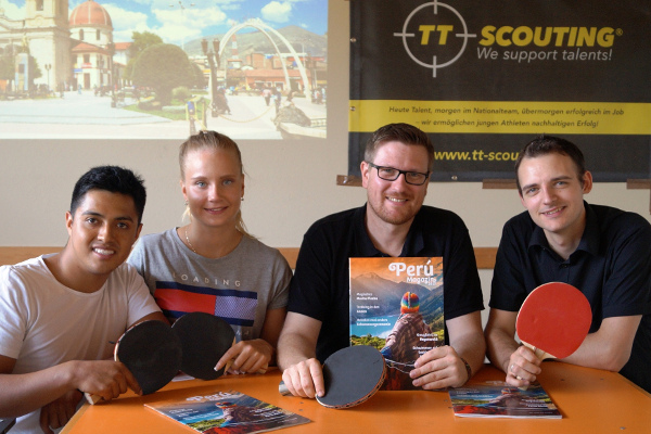 "Das Team von ""We support talents"" / ""TT-Scouting"""