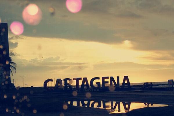 Cartagena in der Abenddämmerung